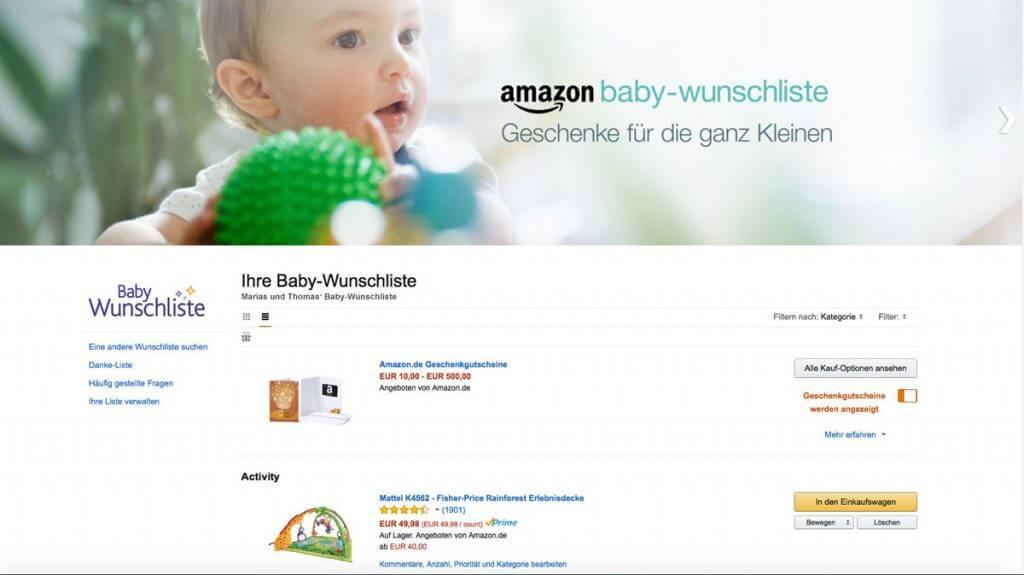 Die Amazon Wunschliste