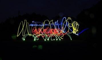 Lightpainting Silvester Idee
