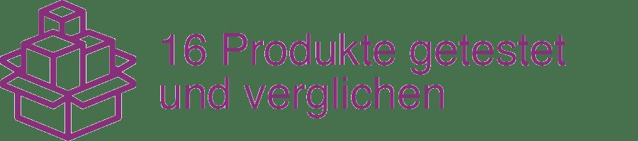 16 Produkte getestet und verglichen