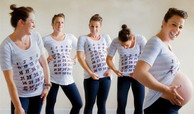 T-Shirt mit Schwangerschaftswochen