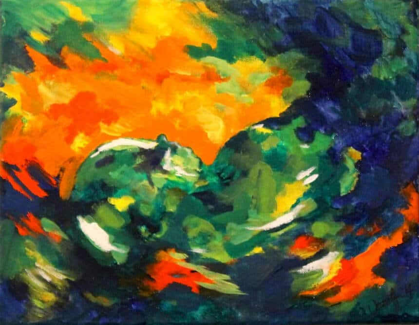 Ultraschallbild als Gemälde