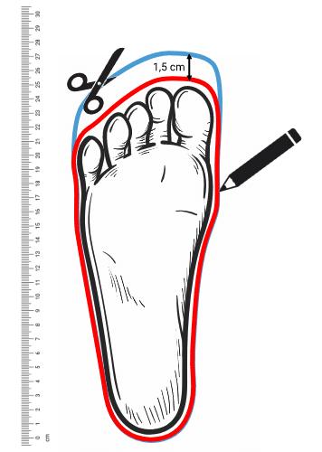 Schuhgrößen Schablone