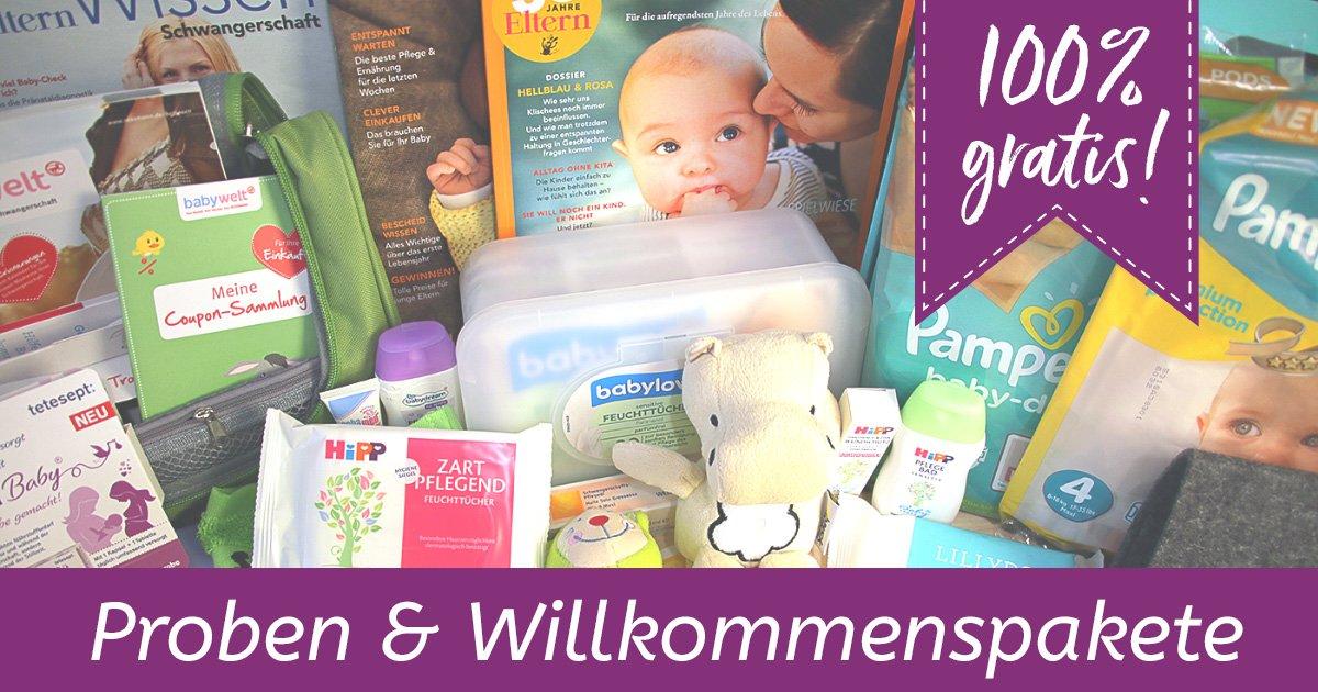 Gratisproben für Babys + Willkommenspakete