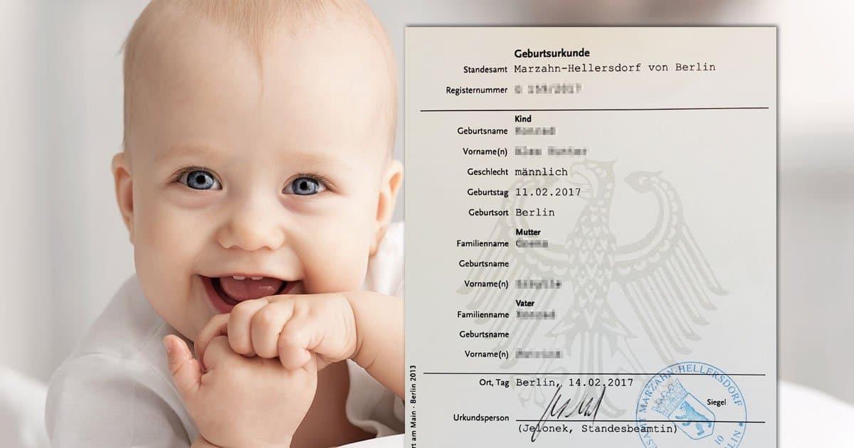 Geburtsurkunde