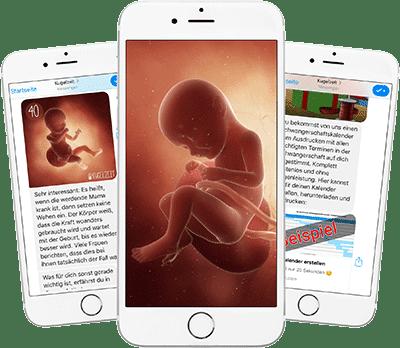 Deine Schwangerschaftsupdates auf dem Handy