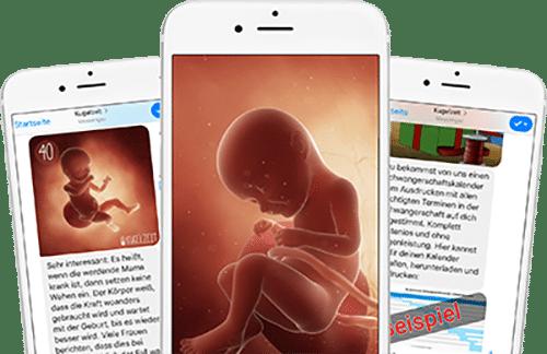 Schwangerschaftsupdates auf dein Handy!