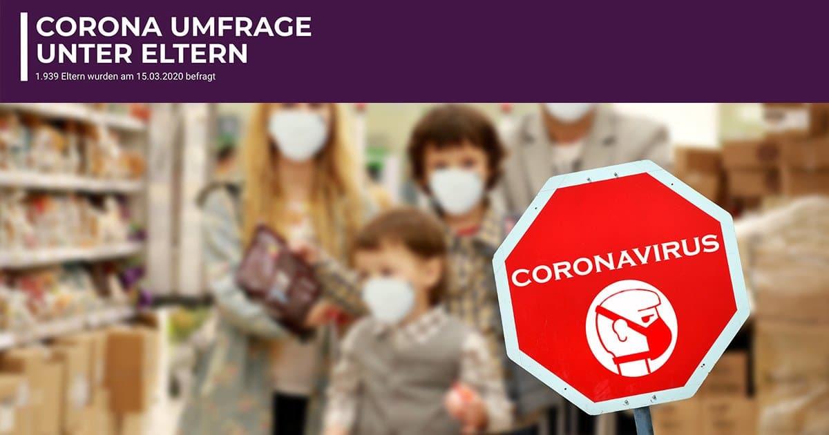 Corona Umfrage unter Eltern