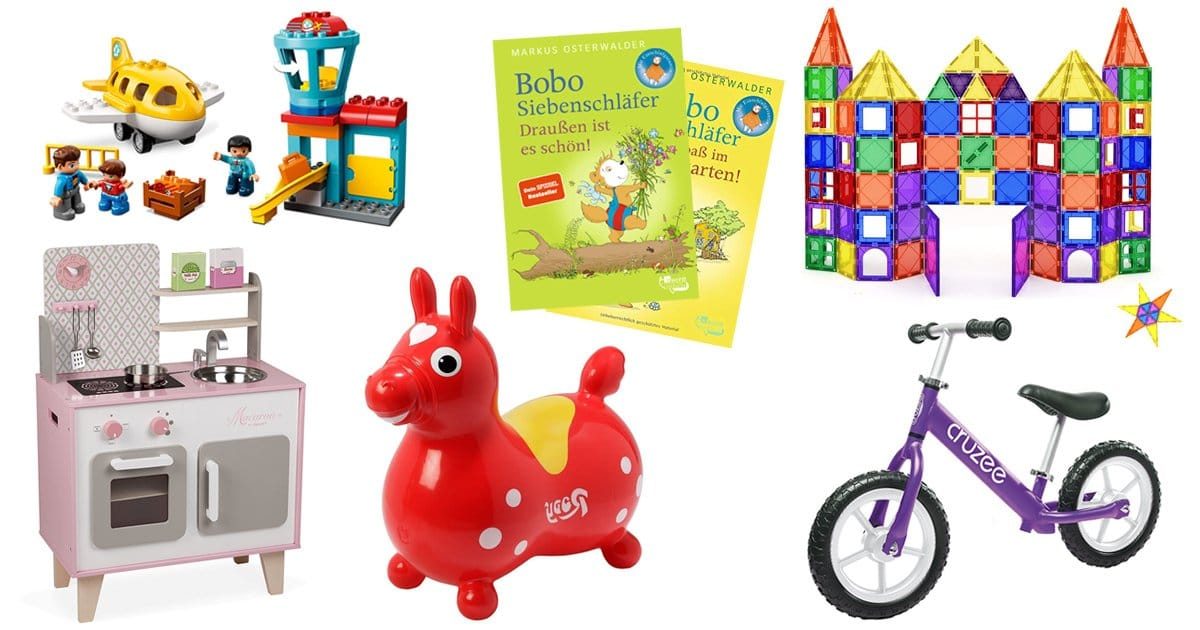 Die besten Geschenke für 3-Jährige: Spielzeuge, Bücher, Laufrad