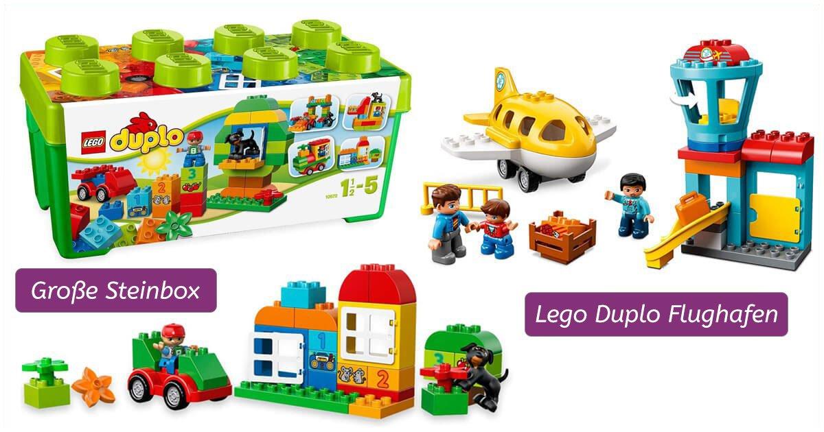 Lego Duplo: Steinebox und Flughafen
