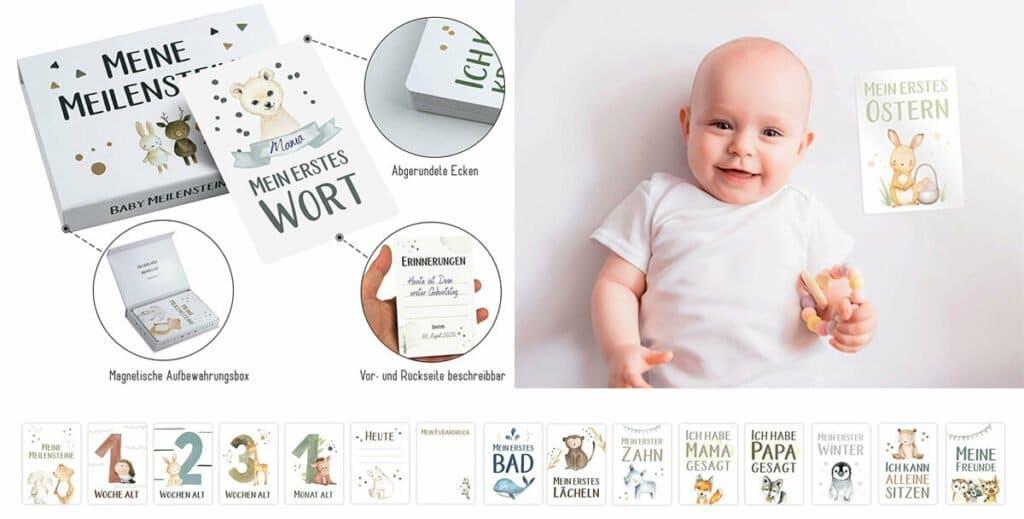 Meilensteinkarten: Geburtsgeschenk für schöne Erinnerungen