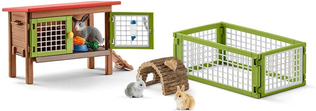 Schleich Geschenke ab 3 Jahre: Kaninchenstall