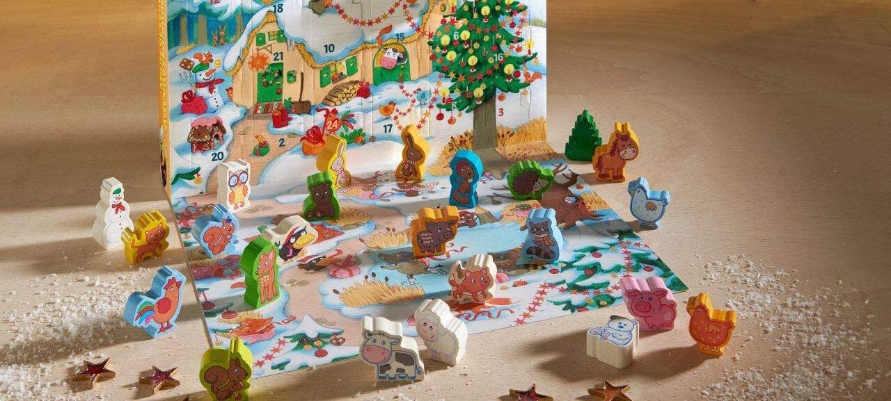 Haba Adventskalender für Kinder ab 2 mit Holzspielzeugen