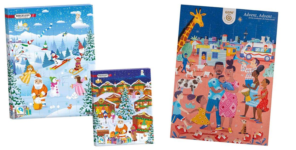 Schoko Adventskalender für Kinder Fairtrade