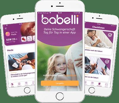 Die Babelli App für Schwangere!