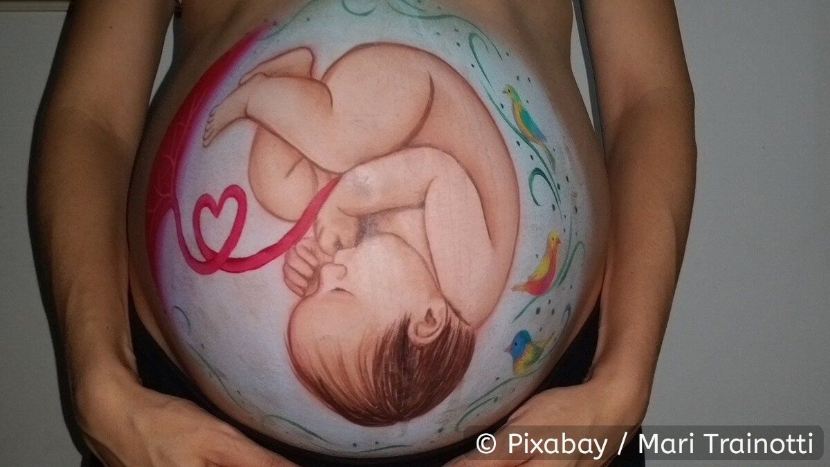 Bellypainting Baby