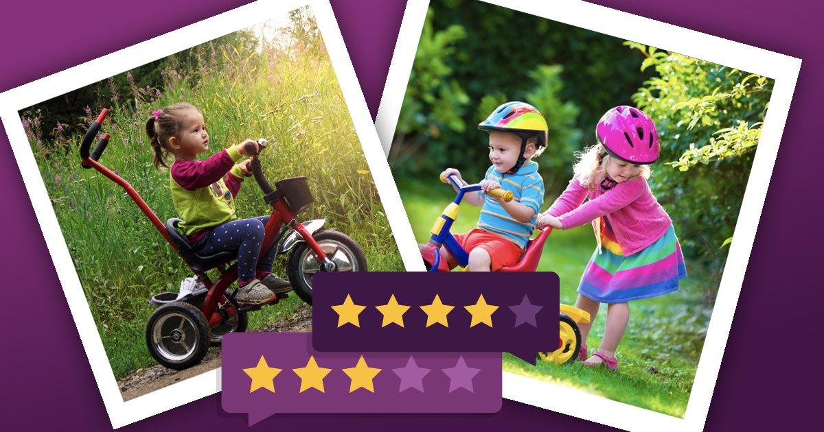 Dreirad für Kinder: Die besten Dreiräder mit Stange und klassisch