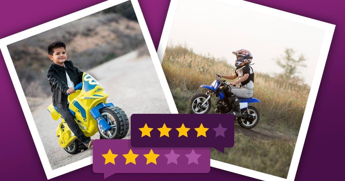 Kindermotorrad: Rutsch-Motorrad und elektrisches Kindermotorrad