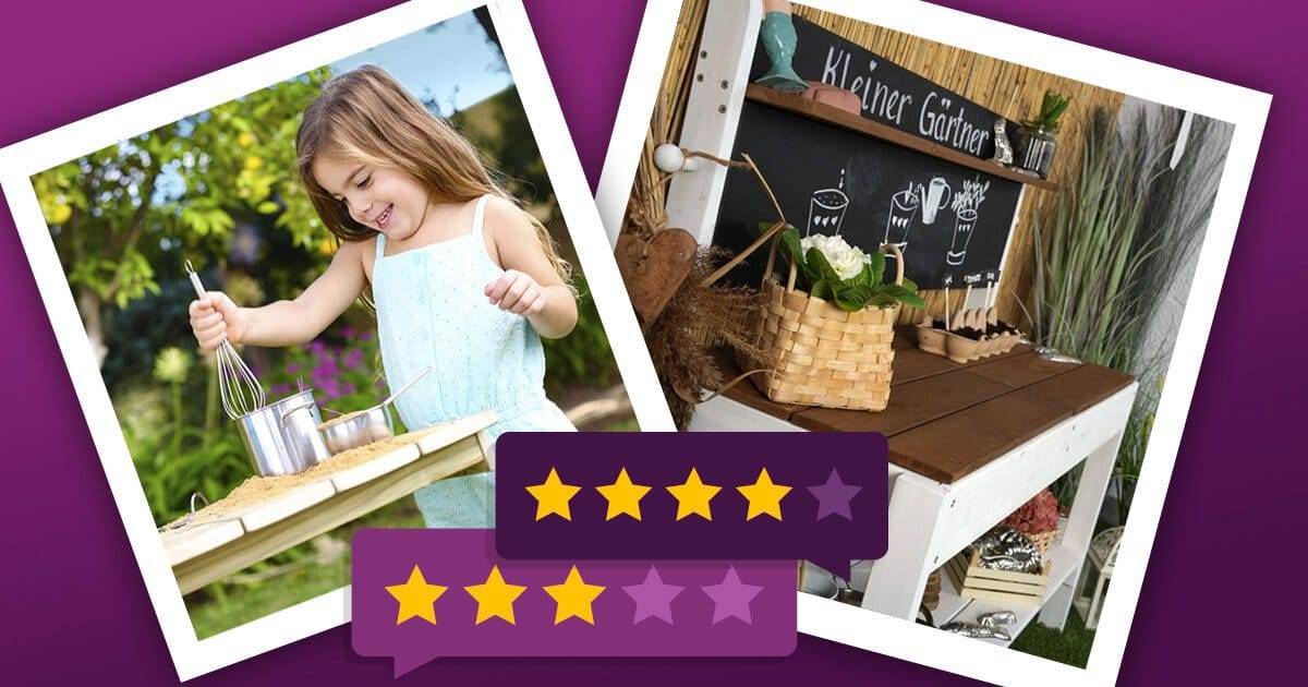 Matschküchen für Kleinkinder und größere Kinder: kleine und große Matschküchen für Garten und Terrasse