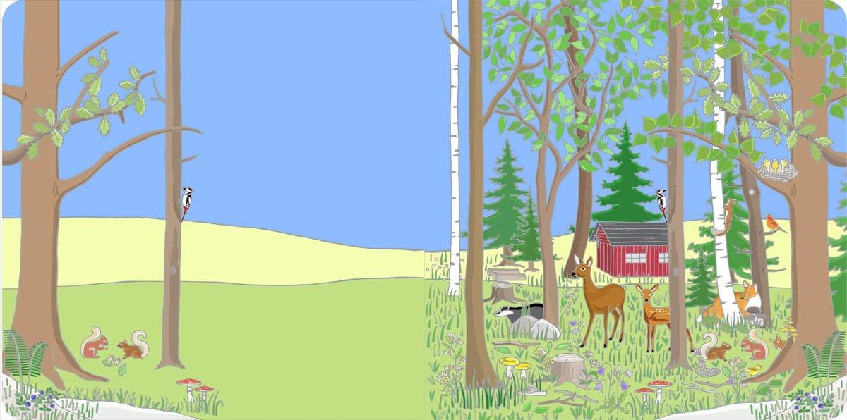 Vicky Bo's Ein-Bild-Wimmelbuch Wald