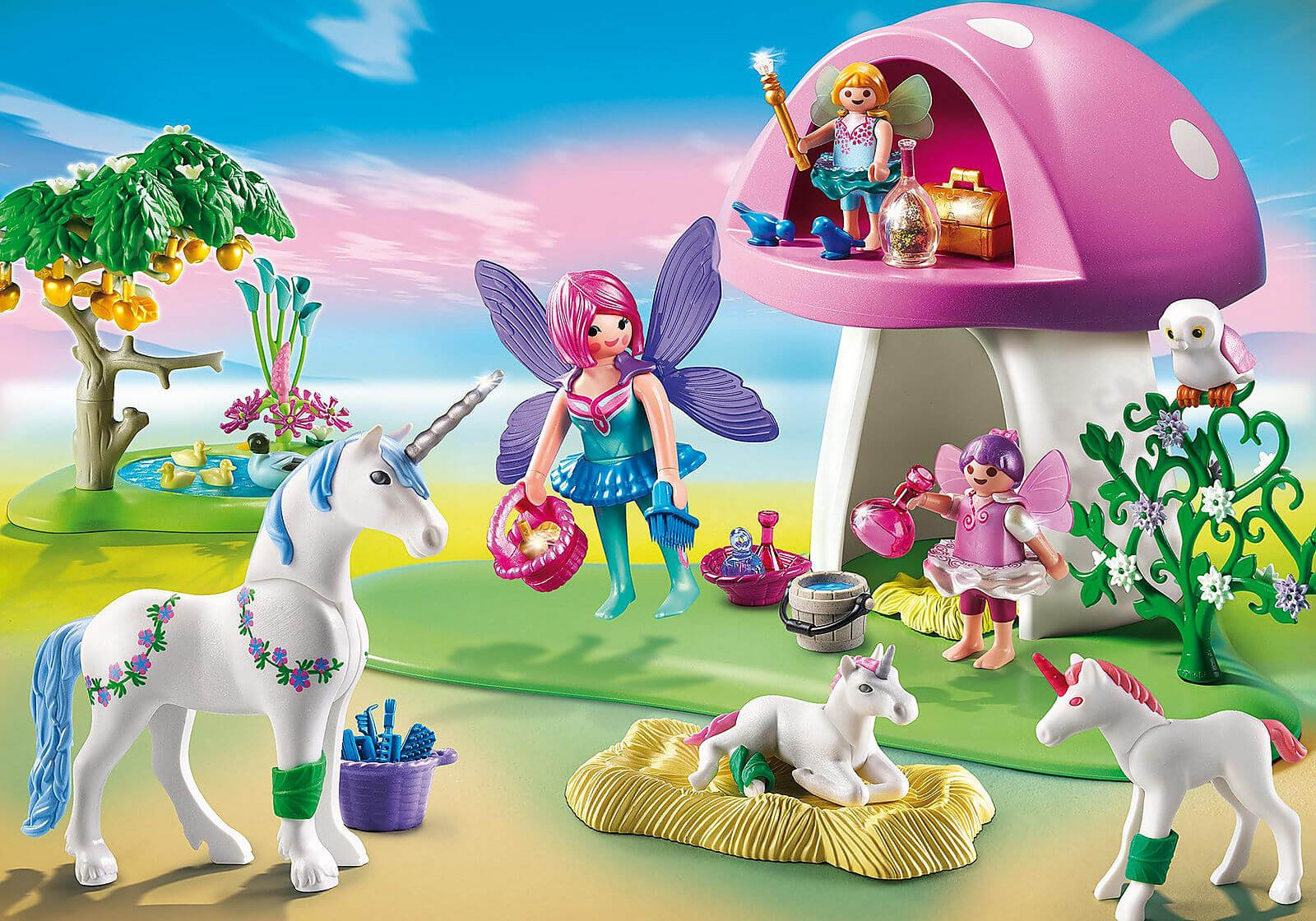 Mädchen Playmobil Feen und Einhörner