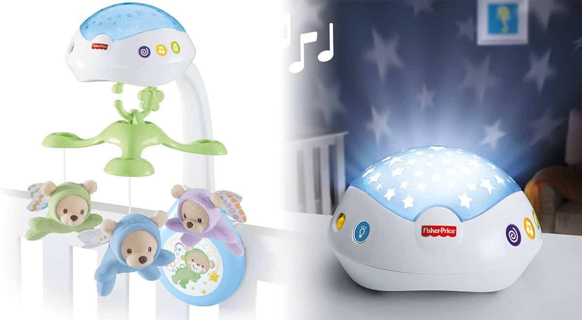 Fisher Price Mobile Baby mit Spieluhr und Sternenhimmelprojektor