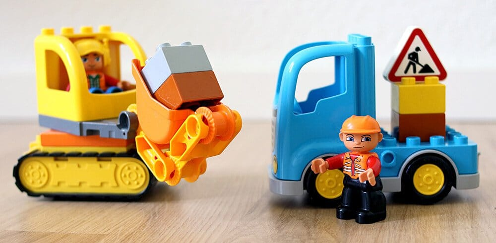 Lego Duplo Baustellenfahrzeuge