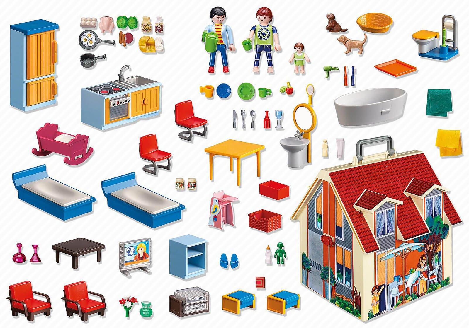 Playmobil Dollhouse - Mädchen Puppenhaus zum Mitnehmen