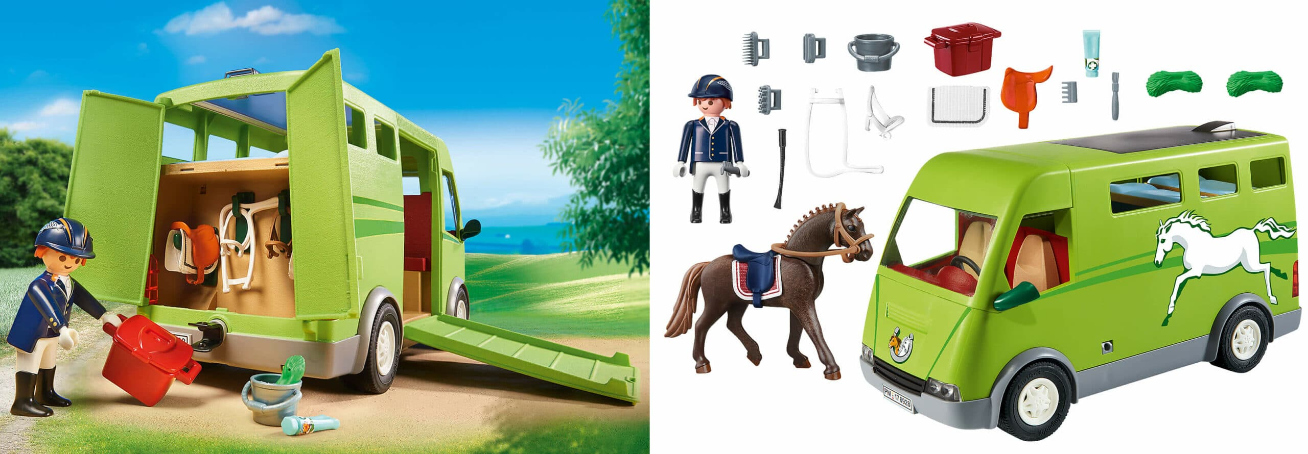 Playmobil Pferdetransporter: Günstiges Mädchenset