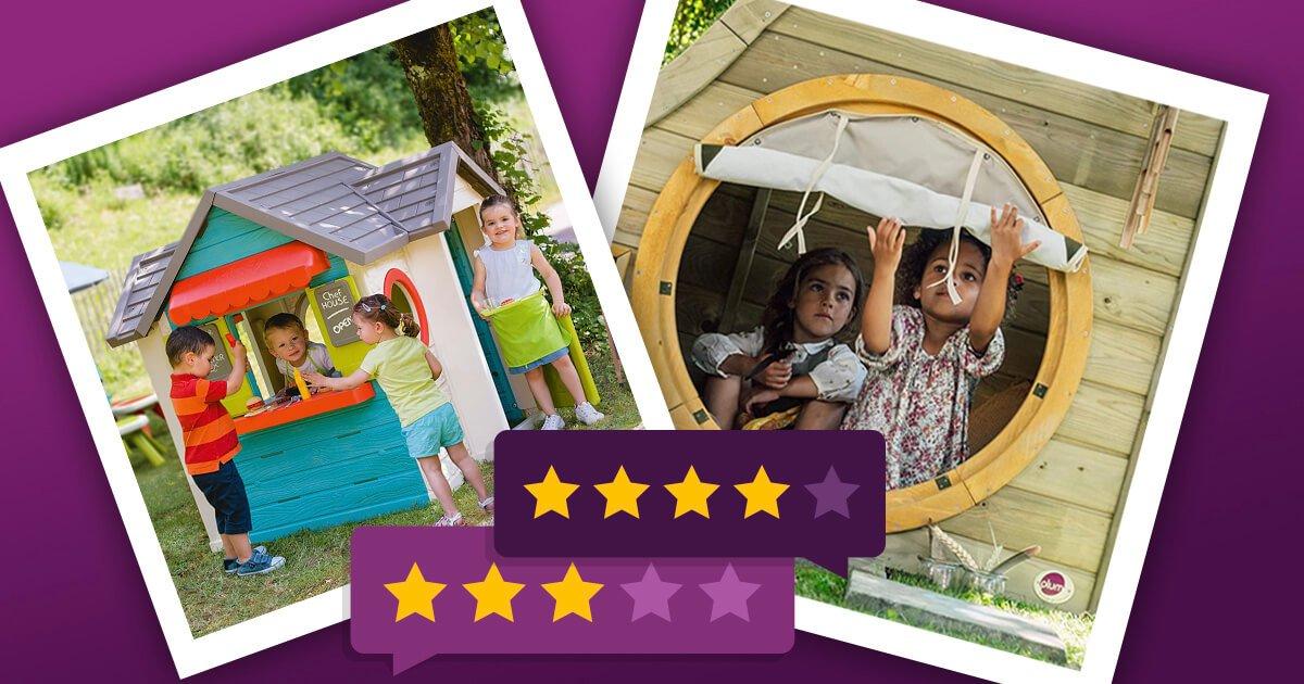 Spielhaus aus Holz und Kunststoff für Kinder