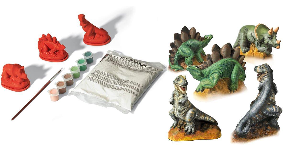 Dinoset: Gips Gießen und Anmalen