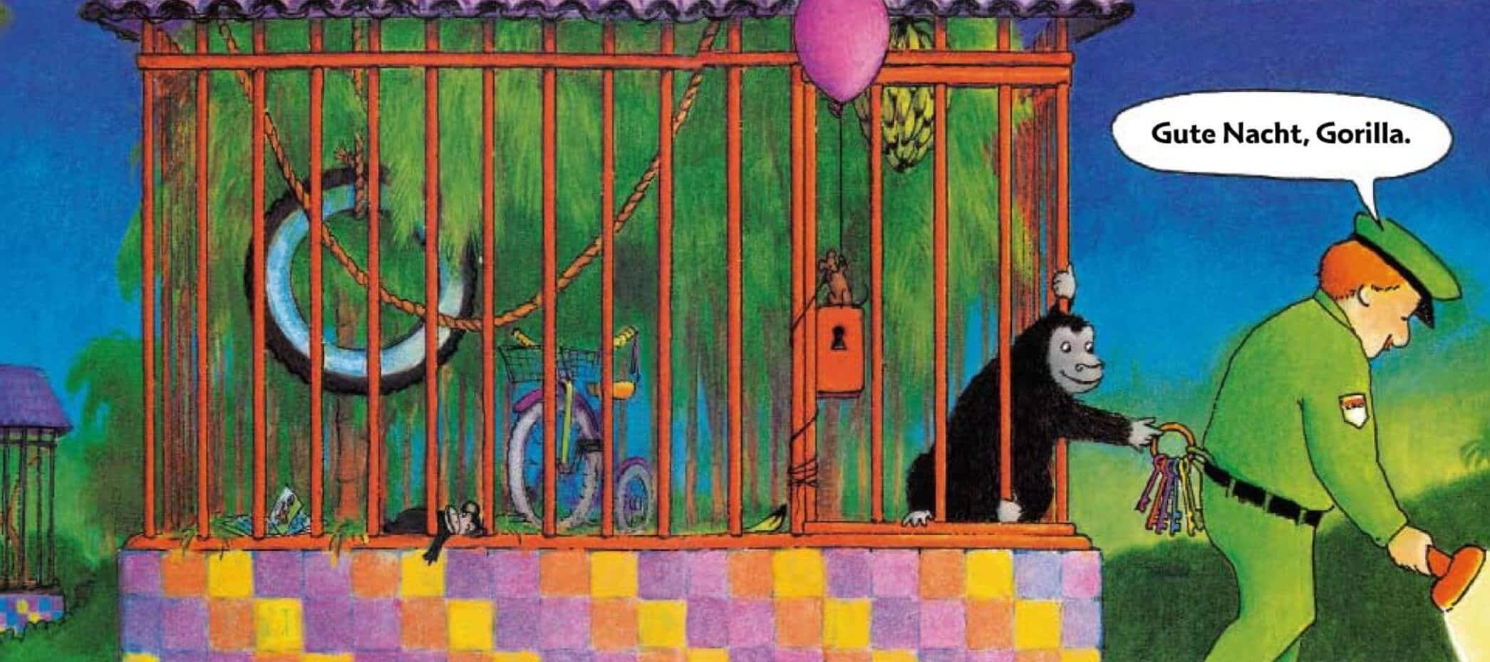 Bilderbuch ohne Text: Gute Nacht Gorilla