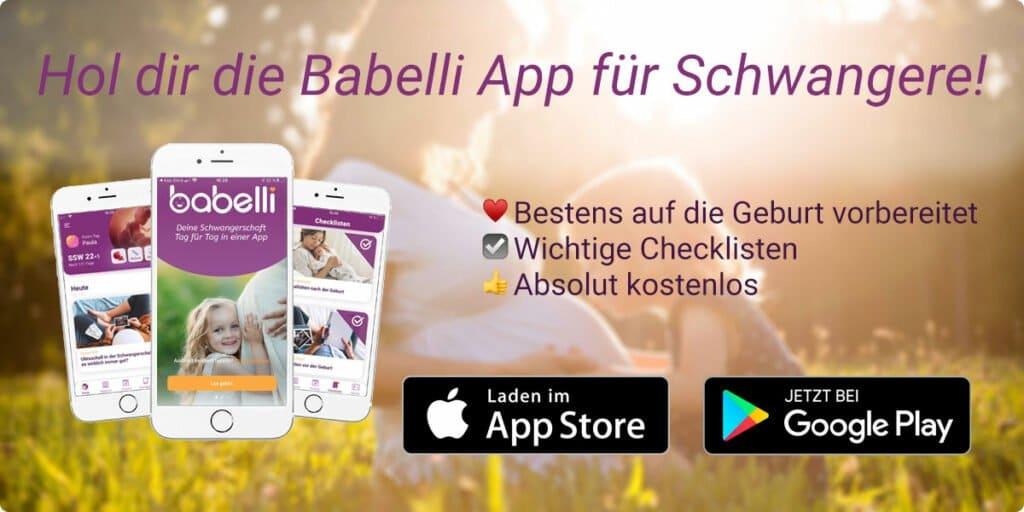Lade dir jetzt die Babelli Schwangerschafts-App